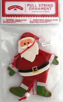 "Christmas ornament pull string Santa Claus 5½"" tall NEW Holiday Time"