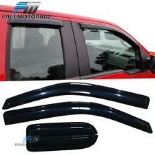 Fits 04-14 Ford F150 Supercab Extended Cab Slim Style Acrylic Window Visors 4Pcs