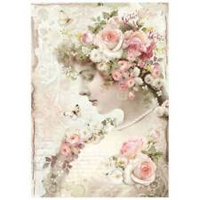 Stamperia Rice Paper A4 - Floral Profile Roses (DFSA4224) New