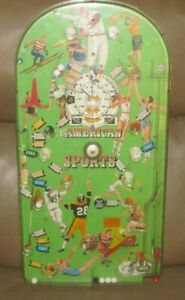 VINTAGE 1950'S USA MARX ALL AMERICAN SPORTS PINBALL GAME Marbles Balls