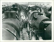 Circa 1942 Railway Tank Cars with Oil from Russia Original News Service Photo