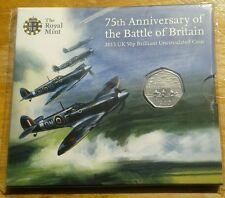 2015 50p Fifty pence Battle Of Britain 75th Anniversary BU  ~ no denomination*
