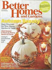 Better Homes and Gardens October 2011 Farmhouse Style/Grasses for Color