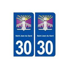 30 Saint-Jean-du-Gard blason ville autocollant plaque stickers droits
