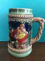 Vintage Beer stein drinking mug ceramic made in Japan