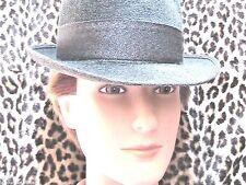 Flechet 1950s Men French Fedora Hat~ Luxurious Gray Felt ~Made In France~ New ~M