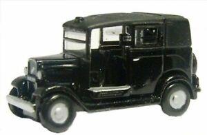 BLACK AUSTIN LOW LOADER TAXI No Box 1/148 Scale Oxford Diecast NAT001