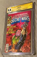 Thanos #13 Marvel Super Heroes Secrets Wars #12 CGC SS 9.8 Signed By Jim Starlin
