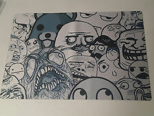 "Rage Comics - Meme Faces - Playmat!  New! 15.5"" x 23.5"""