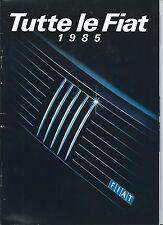Fiat 126 127 Uno Campagnola Panda Ritmo 900E Ducato Brochure 1984 Italian