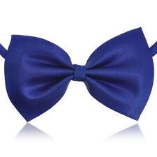 Bow Tie Male Dog Small Pet Fabric Collars Formal Apparel Navy Blue Gift