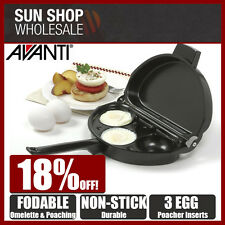 Avanti Non-stick Foldable Omelette & Egg Poacher Pan 12348