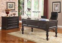 Parker House Grand Manor Palazzo Writing Desk Black Wood Home Office Furniture
