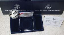 1991-1995 WWII 50th Anniv Proof 90% Silver $1 Coin BOX COA 1993 WW2 World War