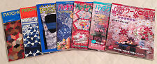 LOT OF 7 JAPANESE PATCHWORK QUILT TSUSHIN QUILTING MAGAZINES for Quilters