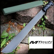 "M-TECH USA 23"" SS BLACK MATTE FULL TANG TACTICAL BUSH CAMPING MACHETE + SHEATH"