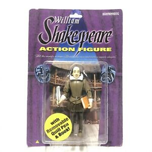 William Shakespeare Action Figure With Book And Quill Accoutrements NEW Sealed