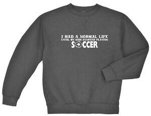 Soccer Mom Dad sweatshirt Men's crewneck gray sweat shirt soccer sweats