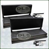 "Black Vinyl Rear Bench Seat Set Land Rover Ser 88""SWB and Defender 90 (320737X2)"