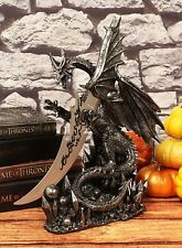 """Ancient Medieval Dragon Knife Dagger Figurine Home Office Gift Decor 13"""" Height"""