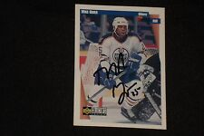 MIKE GRIER 1997-98 UD COLLECTOR'S CHOICE SIGNED AUTOGRAPHED CARD #88 OILERS