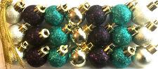 Set Shatterproof Christmas Tree Baubles Balls Plastic Hanging Decorations Cooper