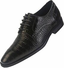 ELANROMAN Men's Oxford Dress Shoes Genuine Leather Luxury Handcrafted Lace up Sh