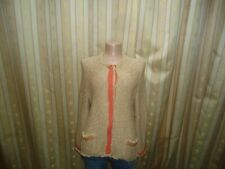 NICE CONNECTION Damen Strickjacke Jacke Beige Gr. 42    #1-20