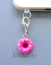 Donut Doughnut cell phone Charm Anti Dust proof Plug ear cup jack C128