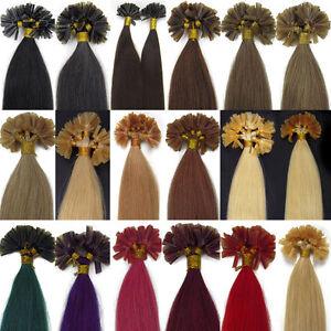 Pre Bonded U/Nail Tip Keratin Remy Human Hair Extensions 16-26Inch 50s Hair
