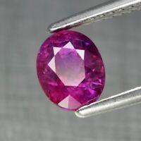 1.60ct 7x5.5mm Oval Natural Unheated Pinkish Purple Sapphire, Winza *Certified