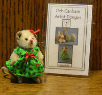 "DEB CANHAM Artist Designs MISS HOLLY MOUSE, Christmas Coll. 2.5"" LE Mohair"
