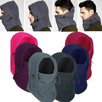 Winter Thermal Fleece Balaclava Men Lady Ski Face Mask Neck Warmer Hood Hats Cap
