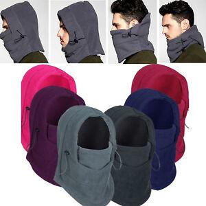 Winter Thermal Fleece Balaclava Men Women Ski Face Mask Neck Warmer Hood Hat Cap