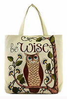 Cute Owl Tapestry Large Tote Bag Fabric Cloth