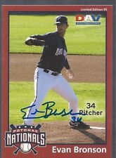 Washington Nationals EVAN BRONSON Signed DAV Card