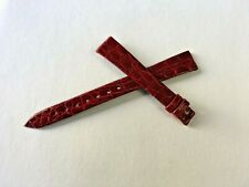 Patek Philippe OEM Vintage New old Stock Red Crocodile Watch Band Strap 14mm