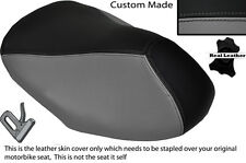 BLACK & GREY CUSTOM FITS YAMAHA AEROX YQ 50 100 99-10 FRONT LEATHER SEAT COVER