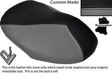 BLACK & GREY CUSTOM FITS YAMAHA AEROX YQ 50 100 99-10 FRONT LEATHER SEAT COVER