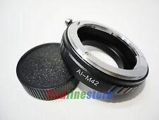 macro Nikon AI AI-S F Lens to M42 screw mount adapter Zeiss Pentax Mamiya + cap