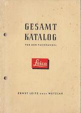 Leitz Gesamtkatalog für den Fachhandel - 1954