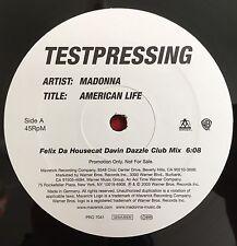 "MADONNA -American Life- 1 Sided Test Pressing/Promo 12"" Remix (Vinyl Record)"