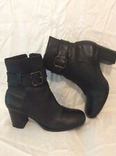 H By Hudson Black Ankle Leather Boots Size 40