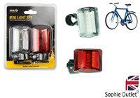 FRONT & REAR MINI LIGHT SET BIKE CYCLE Head & Tail Cycling Headlight GM2467OB UK