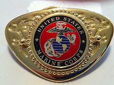 USMC Marine Corp Western Style Buckle (Chevron)