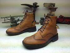 ALDO Beatle Boots - Wing Tip Cap Toe Brogue in Cognac Brown Leather -Size 11-44