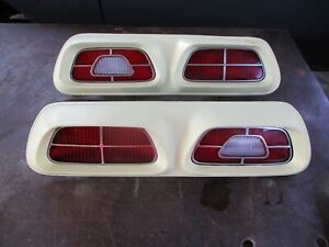 73-77 MERCURY COMET LEFT RIGHT TAIL LIGHTS OEM PAIR COMPLETE