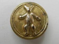 Antique Brass Metal Button Political Teddy Bear Teddy Roosevelt Inspired