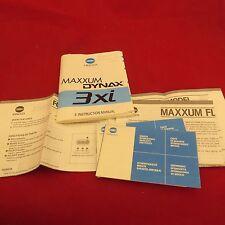 Minolta MAXXUM DYNAX 3xi instruction manual, plus other Minolta information