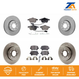 Front Rear Disc Brake Rotors And Ceramic Pads Kit For Audi A4 Quattro